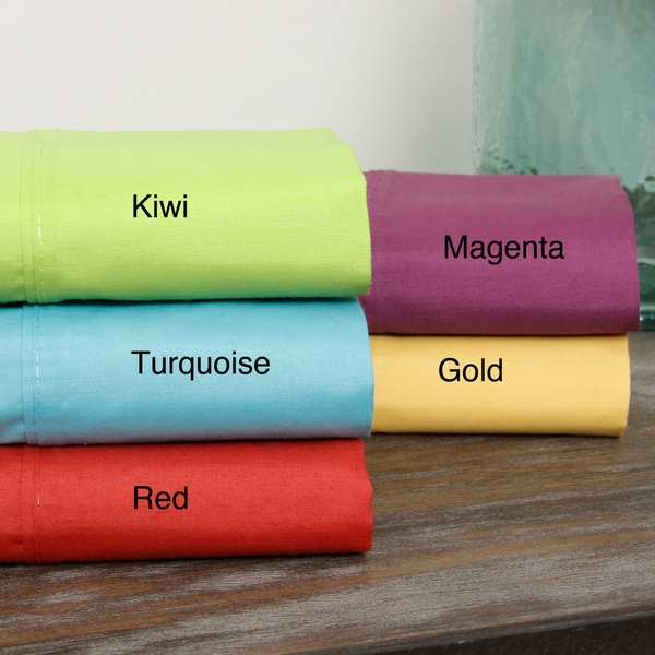 Bright Cotton-rich Oversized Percale Sheet Set