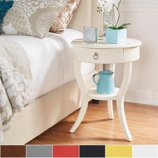 Burkhardt Round Wood Accent Table by iNSPIRE with Drawer by iNSPIRE Q Bold