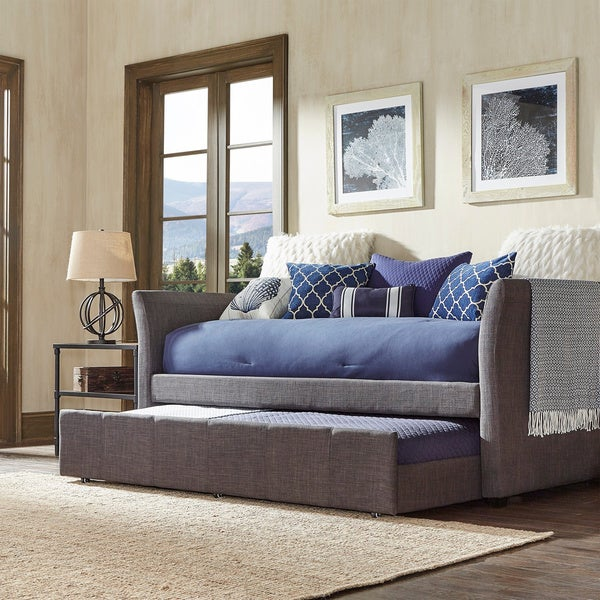 Modern Daybeds With Trundles Austin Daybed Trundle Brown Curved Back