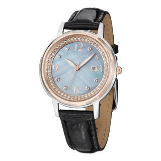 Stuhrling Original Women's Dancer Swiss Quartz Crystal Mother Of Pearl Watch