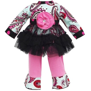 AnnLoren Paisley, Polka Dots & Tulle Doll Outfit fits American Girl Dolls
