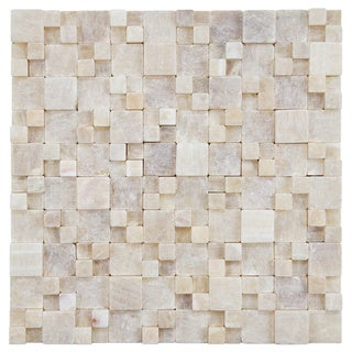 SomerTile 12x12-inch Griselda Gaodi Yellow Jade Natural Stone Mosaic Wall Tile (Pack of 10)