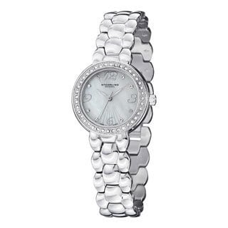 Stuhrling Original Women's Tresor Swiss Quartz Crystal Stainless Steel Bracelet Watch