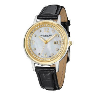 Stuhrling Original Women's Dancer Swiss Quartz Crystal Mother Of Pearl Watch