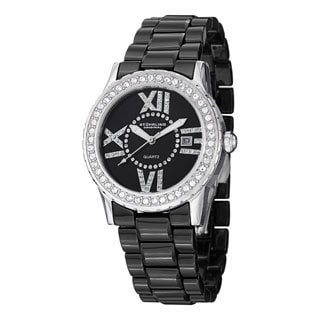Stuhrling Original Women's Thalia Crystal Ceramic Bracelet Watch