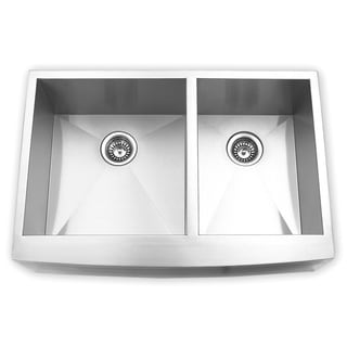 Blue Ocean 33-inch Stainless Steel Double Bowl Apron Kitchen Sink