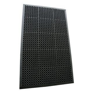 Rubber-Cal Dura-Chef Non-Slip Rubber Kitchen Mat - 1/2-inch x 3ft x 5ft - Black Fatigue Mats