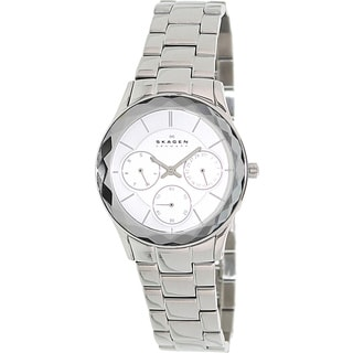 Skagen Men's 344LSXS Silver Stainless-Steel Analog Quartz Watch with Silver Dial