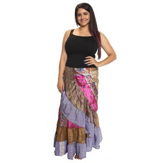 Long Silk Floral Wrap Skirt (Nepal)