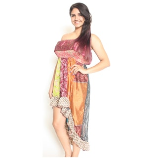 Silk Rustic Hi-Low Dress (Nepal)