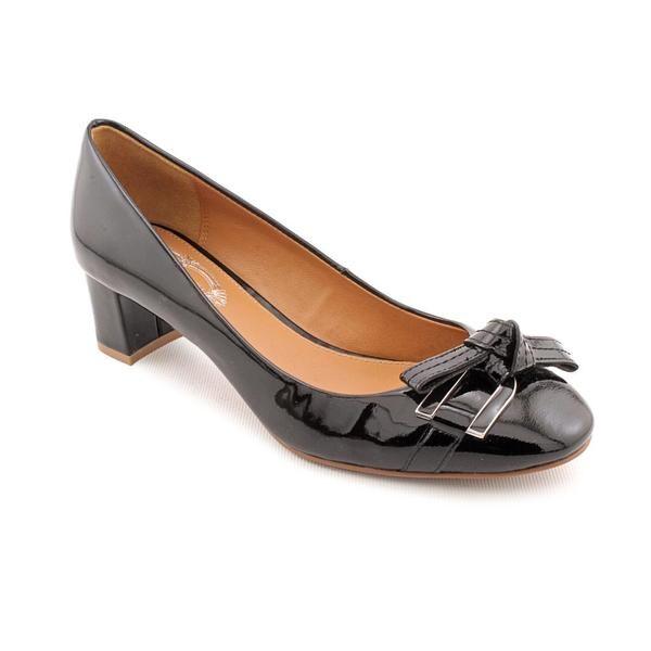 Image is loading Elie-Tahari-Lalla-Womens-Size-9-Black-Peep