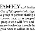'Family: One of Life's Greatest Blessings' Vinyl Wall Art Lettering