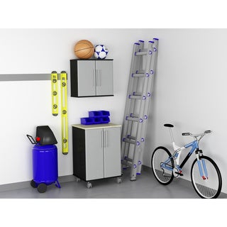 Ameriwood Garage Wall Cabinet and Two Door Cart Set