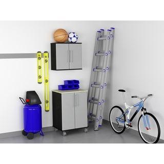Ameriwood Garage Wall Cabinet and Two Door Cart Set