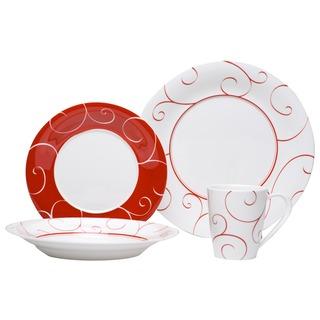 Red Vanilla 'Panache Rouge' 16-piece Dinner Set