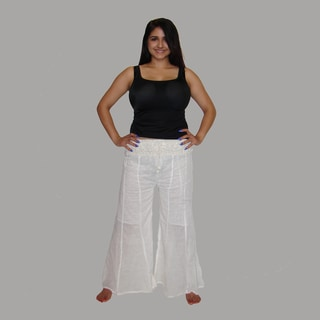 Women's Crochet Cotton Pants (Nepal)