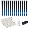 Golf Pride New Decade MCC Midsize Blue - 13pc Grip Kit (with tape, solvent, vise clamp)