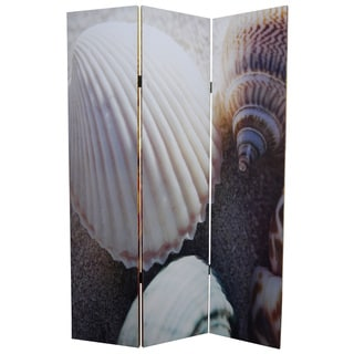Seashell 3-Panel Canvas Screen