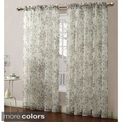 Baldwin Leaves Printed Sheer 84-inch Curtain Panel