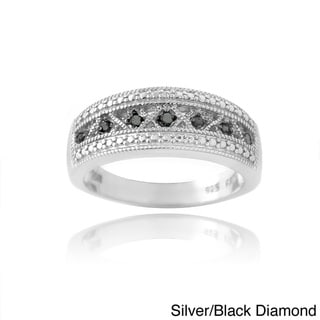 DB Designs Sterling Silver Or Gold Overlay Diamond Ring