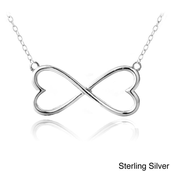 Mondevio Sterling Silver Infinity Heart Necklace