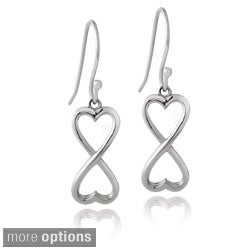 Mondevio Sterling Silver Infinity Heart Dangle Earrings