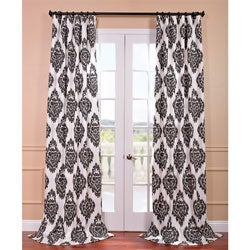 Ikat Black Printed Cotton Curtain Panel