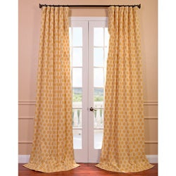 Honeycomb Printed Cotton Curtain Panel