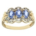 Michael Valitutti 14k Yellow Gold Tanzanite and Diamond Ring