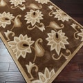 Sichuan Hand-tufted Brown Contemporary Floral Rug (3'6 x 5'6)