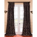 Astoria Black/ Pewter French Pleat Faux Silk Jacquard Curtain Panel