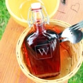 Custom Engraved Swing Top Glass Flask Cruet
