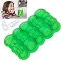 Green Caterpillar Shaped Silicone Ice Cube Tray Mold, 2-Pack