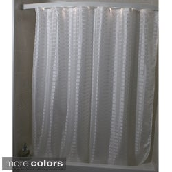 Criss Cross Box Weave Shower Curtain