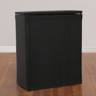 1530 LaMont Home Black Basketweave Upright Hamper