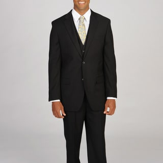 Caravelli Italy Men's Super 150 Black 3-piece Suit