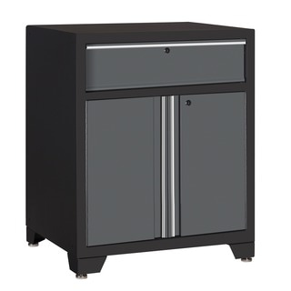 NewAge Products Pro Series Grey One Drawer with 2-door Base Cabinet