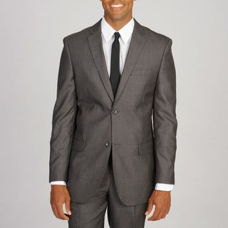 Caravelli Slim Men's Super 150 Charcoal Shark Pattern Suit