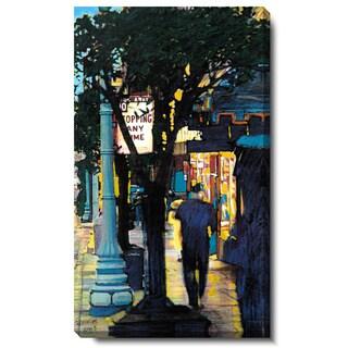 Studio Works Modern 'Evening Walk' Gallery Wrapped Canvas Art