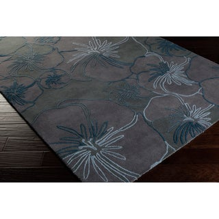 Malene B Destinations Hand-tufted Grey Contemporary Floral Wool Rug (3'3 x 5'3)
