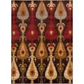 Budapest Meticulously Woven Brown Contemporary Ikat Abstract Rug (5'3 x 7'3)