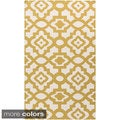 Candice Olson Market Place Hand-woven Contemporary Geometric Wool Rug (3'6 x 5'6)