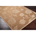 Kondurcha Meticulously Woven Beige Outdoor Floral Rug (4'7 x 6'7)