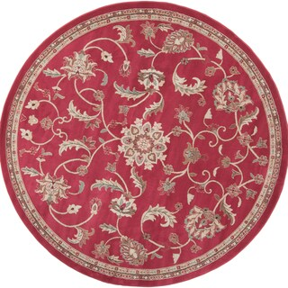 Thrace Meticulously Woven Classic Floral Rug (8' Round)