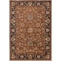 Hagia Meticulously Woven Brown Traditional Oriental Rug (5'3 x 7'6)