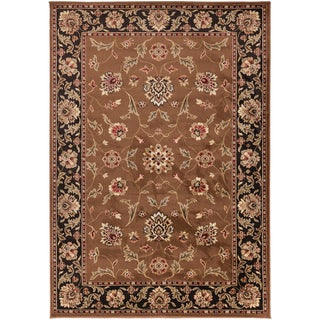 Hagia Meticulously Woven Brown Traditional Oriental Rug (6'6 x 9'8)