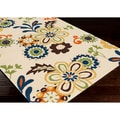 Stella Smith Hand-hooked Beige Contemporary Floral Rug (3'3 x 5'3)
