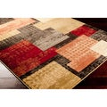Sahin Meticulously Woven Multi Contemporary Abstract Rug (5'3 x 7'6)