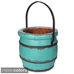 Wooden Barrel Decorative Bucket (Refurbished)