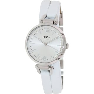 Fossil Women's 'Georgia' White Leather Strap Watch